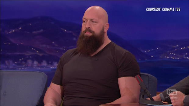 """Big Show discusses his weight loss and karaoke with The Rock on """"Conan"""""""