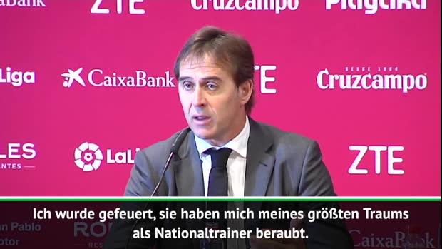 """Lopetegui: """"Meines größten Traums beraubt"""""""