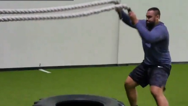 K.J. Malone trains for the Combine