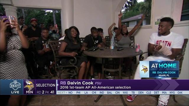 Dalvin Cook's family pumped up as Dalvin gets drafted