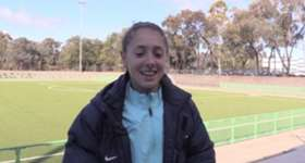 Westfield Mini Matildas Molly Arens, Karly Roestbakken and Courtney Nevin discuss their call-up to the national U-17 side.