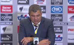 Central Coast's Phil Moss proud of his side's spirit despite going down to the Roar.