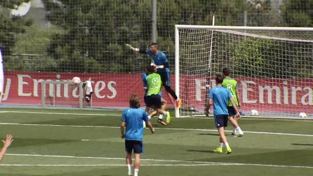 Nach Kollision: Ronaldo bricht Training ab