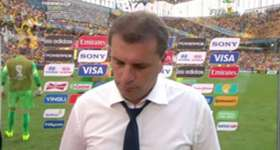 Socceroos coach Ange Postecoglou was disappointed with the result against Spain but is already looking to the future.