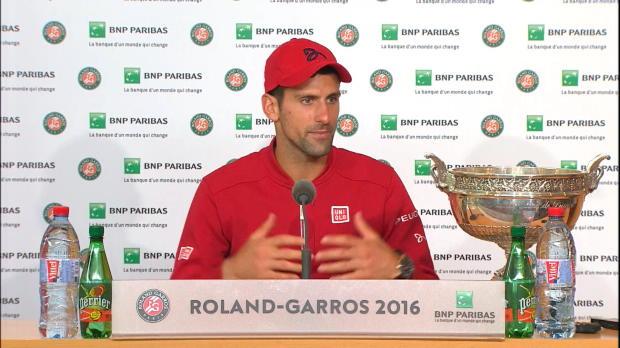 French Open: Djokovic beschreibt Siegesmoment