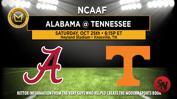 Alabama Crimson Tide @ Tennessee Volunteers