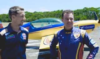 Club Member Ian Atkinson was treated to a flight of a lifetime on Monday alongside Newcastle Jets star Morten Nordstrand - the duo went flying with Australia's only Red Bull Air Racer, Matt Hall!