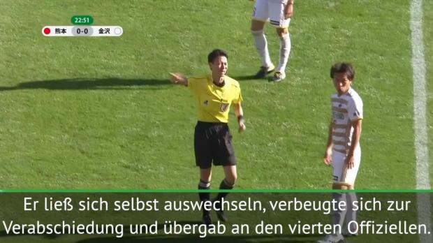 J2-League: Schiri wechselt sich selbst aus