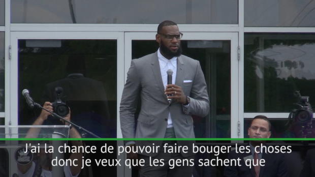 Basket : NBA - Le message d'espoir de LeBron James aux enfants de sa ville natale