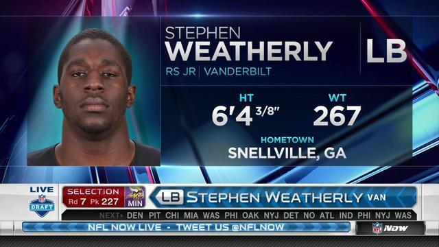Vikings pick Stephen Weatherly No. 227