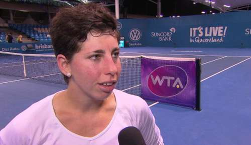 Suarez Navarro Interview: WTA Brisbane QF