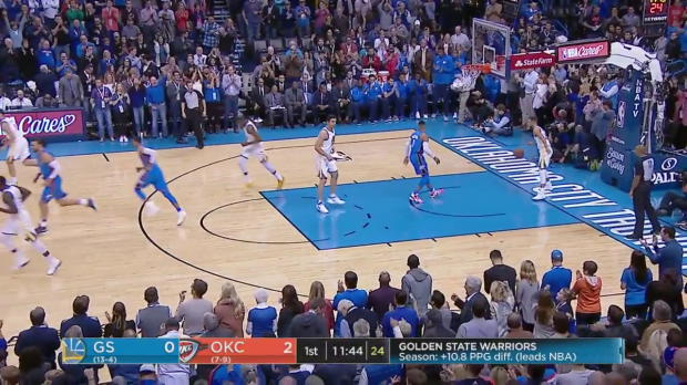 WSC: Russell Westbrook (34 points) Game Highlights vs. Golden State Warriors