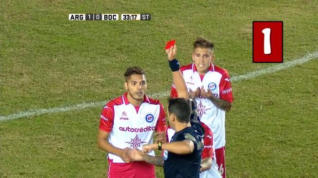 Argentina - 5 Tarjetas rojas en el fútbol argentino