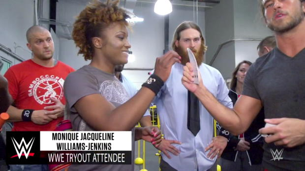 This magic trick left WWE tryout attendees speechless