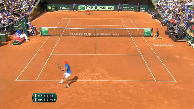 Tennis : Coupe Davis - Pouille envoie les Bleus en demi-finale