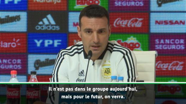 Argentine - Scaloni - 'Messi ne fait pas partie du groupe'