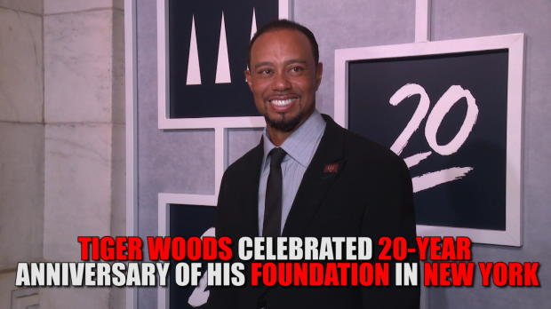 Tiger and Sharapova celebrate 20-year anniversary of Woods foundation