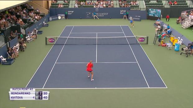 : Stanford - Kvitova déroule contre Bondarenko