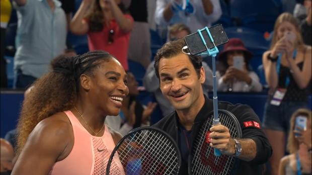 Basket : Hopman Cup - Federer/Serena - Un selfie à 43 Grands Chelems !