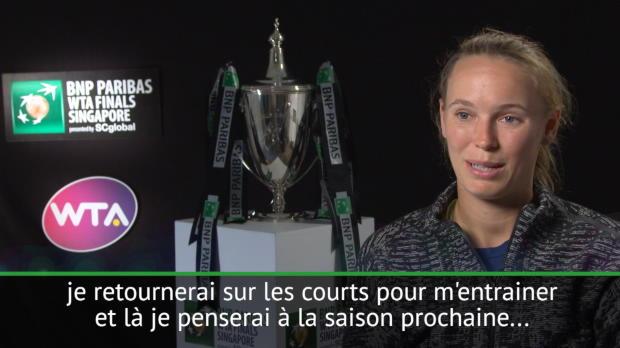 : Masters - Wozniacki - 'Heureuse et fière'