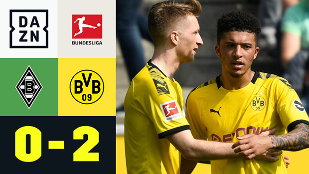 Bundesliga: Borussia M'gladbach - Borussia Dortmund | DAZN Highlights