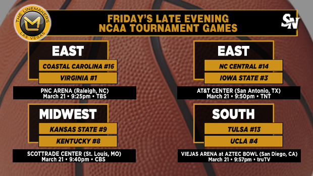 Friday's late-evening NCAA Tournament games