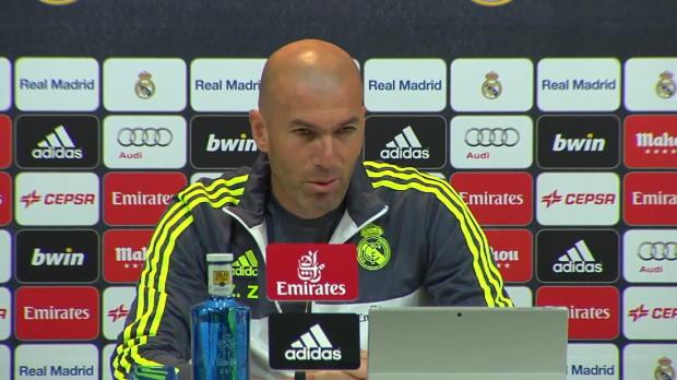 Zidane beruhigt bei Bale und warnt vor Aduriz