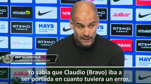 """Guardiola sale en defensa de Bravo: """"Todo el mundo comete errores"""""""
