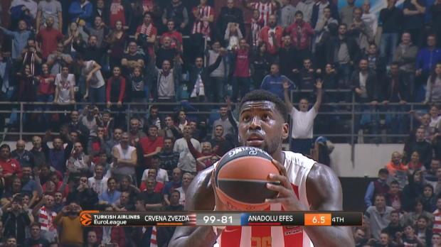 Basket : Euroligue (11e j.) - Avec Lessort, l'Etoile Rouge domine l'Efes