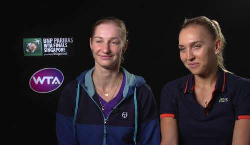 Makarova & Vesnina Interview: WTA Singapore Final