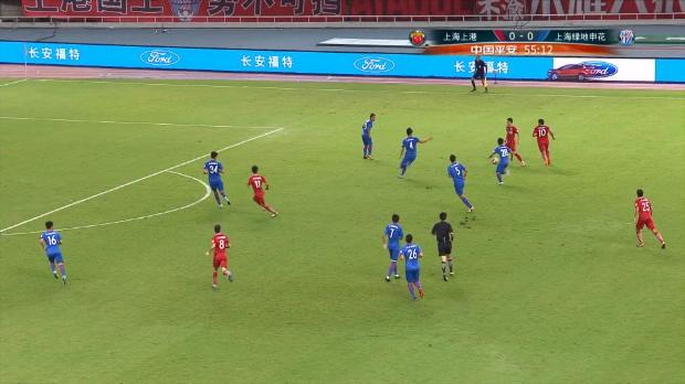 CSL: Shanghai-Derby: Fünf Tore in sieben Minuten