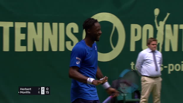 ATP - Halle - L'incroyable point de Gaël Monfils