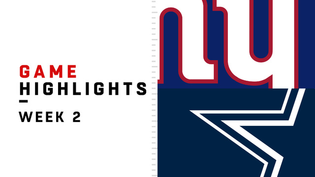 Giants vs. Cowboys highlights | Week 2