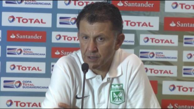 L'Atlético Nacional s'est qualifié en finale de la Copa Sudamericana en venant à bout de Sao Paulo aux tirs au but. L'entraineur du club colombien est revenu sur cet exploit retentissant en conférence de presse.