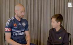 Yoshi grills Victory's Carl Valeri and City's Tim Cahill ahead of this weekend's Melbourne Derby at Etihad Stadium.