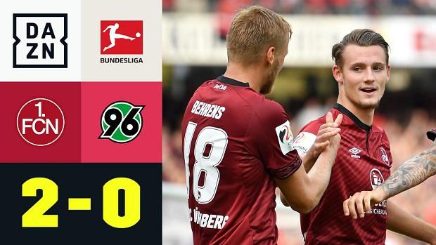 Bundesliga: 1. FC Nürnberg - Hannover 96 | DAZN Highlights