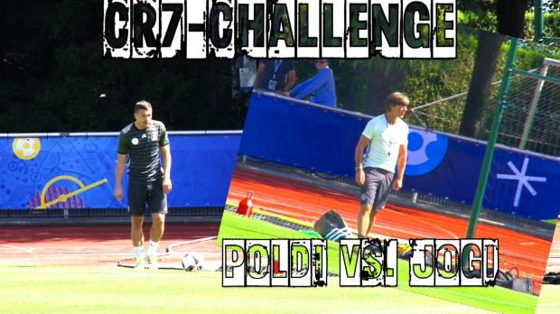 EM 2016: CR7-Challenge mit Podolski und Löw