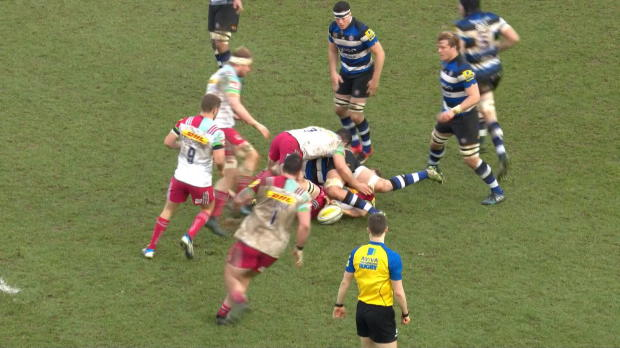 Aviva Premiership - Rob Buchanan offload sets up Marland Yarde try