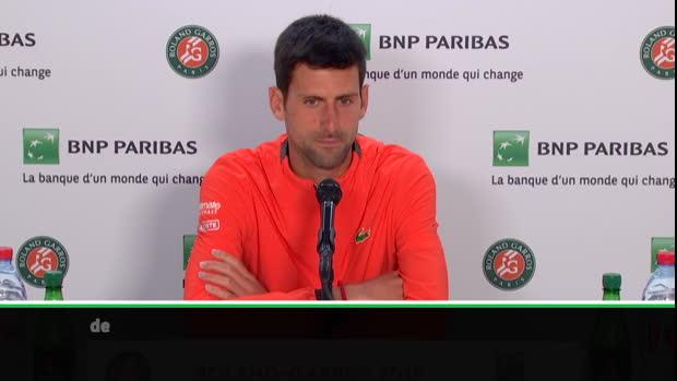 """Basket : Roland-Garros - Djokovic - """"Proche de mon meilleur niveau sur terre battue"""""""