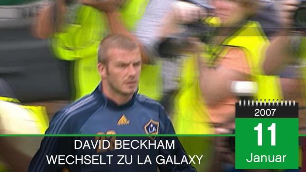On This Day: Beckham wechselt zu LA Galaxy