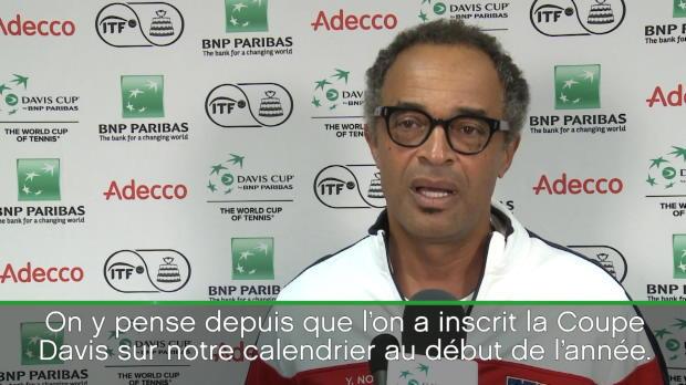 "Basket : Coupe Davis - Noah - ""C?est plus facile sans Djokovic"""