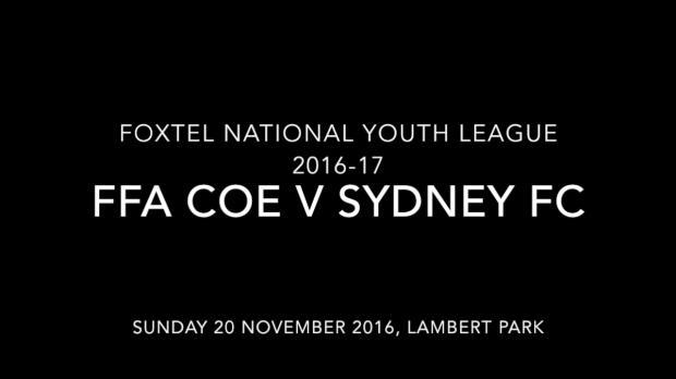 FNYL Rd 2 FFA CoE v Sydney FC Youth Highlights