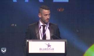 Watch 2016/17 Victory medallist Carl Valeri's acceptance speech in full.