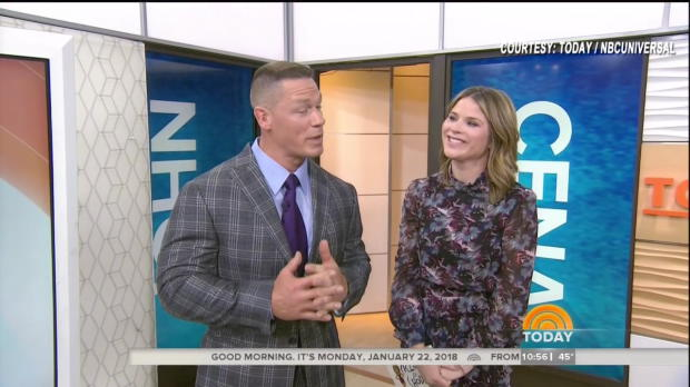 "John Cena is surprised on NBC's ""Today"" by Nick ""The Stitch"""