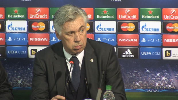"""Foot : LDC - Real Madrid, Ancelotti : """"Une très bonne réaction"""""""