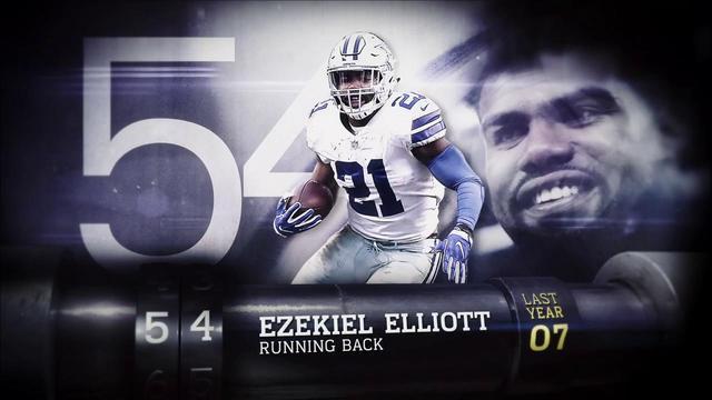 'Top 100 Players of 2018': Dallas Cowboys running back Ezekiel Elliott | No. 54