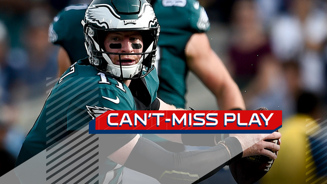 Can't-Miss Play: Carson Wentz Houdinis out of sack, slings dart to Alshon Jeffery