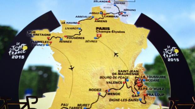 Tour de Francia - Presentan el recorrido de 2015