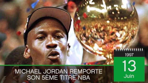 Basket : Il y a 20 ans - Le 5ème titre NBA de Jordan