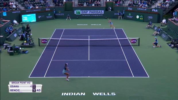 : Indian Wells - En forme, Bencic corrige la reine Osaka